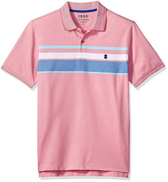 IZOD Men's Advantage Performance Stripe Polo (Regular & Slim Fit)