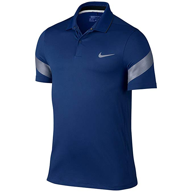 Nike Golf CLOSEOUT Men's MM Fly Framing Commander Polo (Deep Royal/Anthracite) (XL)