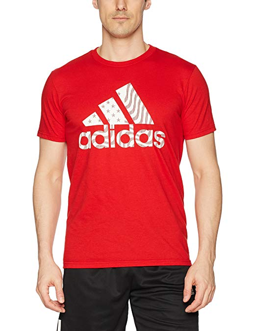 adidas Mens Athletics America Badge of Sport Tee