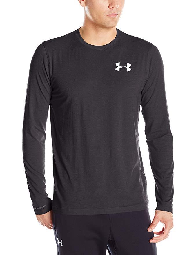 Under Armour Men's Vertical Wordmark Long Sleeve T-Shirt