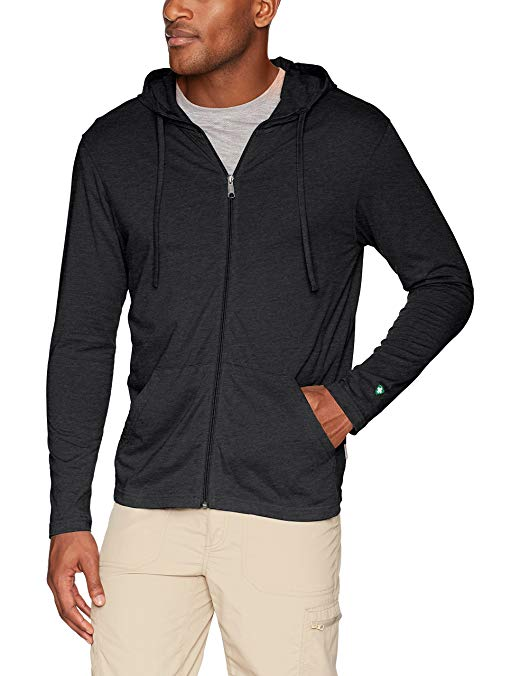White Sierra Men's Bug Free Jersey Full Zip Hoody, Charcoal Heather, X-Large