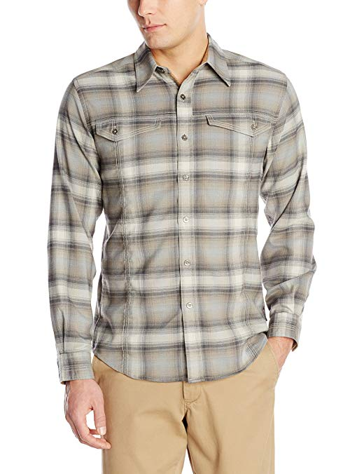 Royal Robbins Men's Taos Heathered Flannel Long Sleeve Shirt