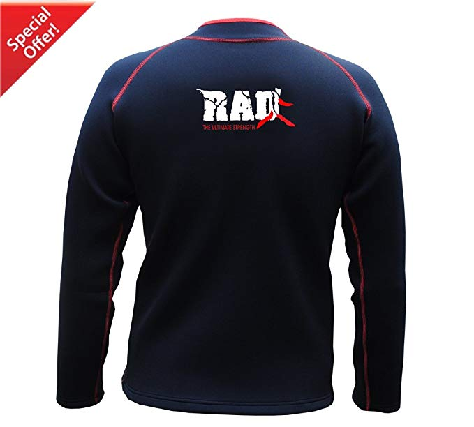 RAD Heavy Duty Sweat Shirt Sauna Exercise Gym Suit Fitness Weight Loss Top Men