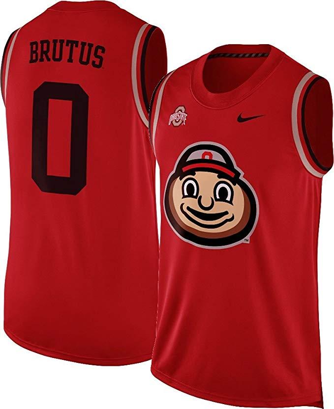 Nike Ohio State Buckeyes Brutus Mascot Basketball Jersey Tank Top Sleeveless Shirt