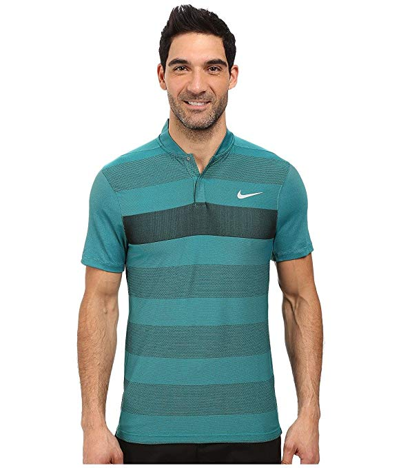Nike 2016 Dri-Fit Fly Swing Knit Stripe Alpha Mens Golf Polo Shirt