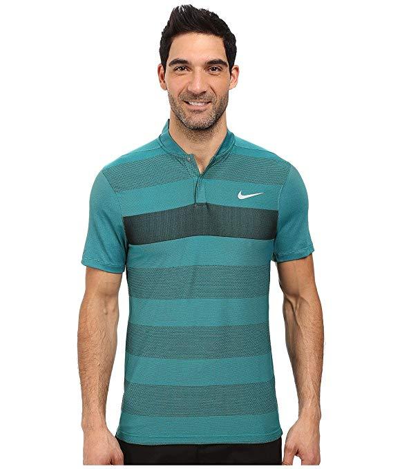 Nike 2016 Dri-Fit Fly Swing Knit Stripe Alpha Mens Golf Polo Shirt