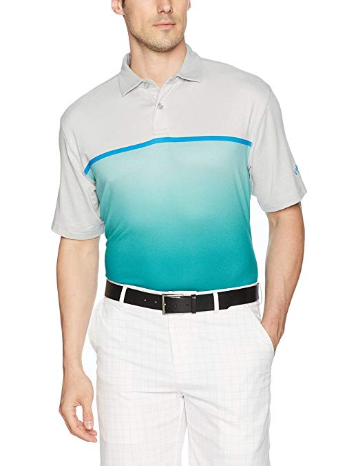 Callaway Men's Fade-Printed Heathered Block Polo Short Sleeve