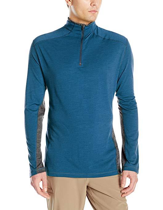 Royal Robbins Men's MerinoLux 1/4 Zip T-Shirt